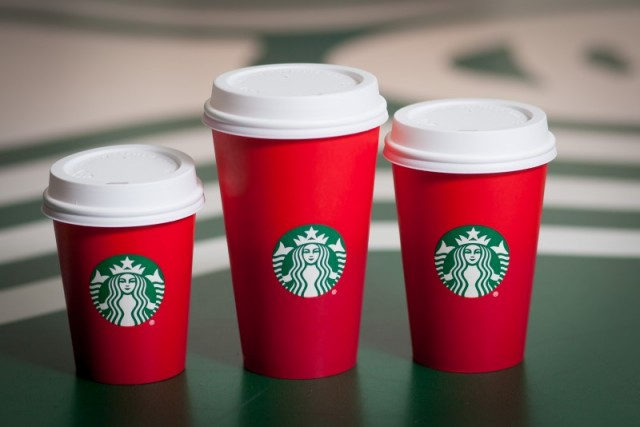 Starbucks Red Holiday Cups 2015