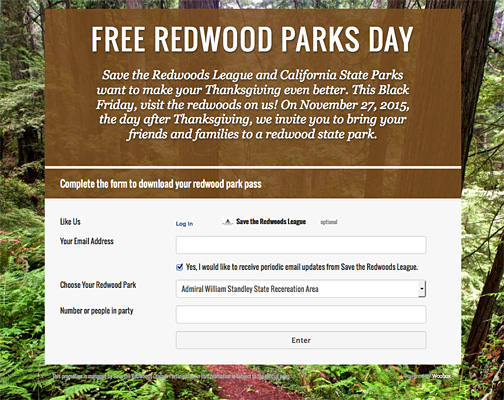Free Redwood Parks Pass